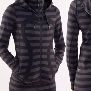 Lululemon In Stride Hoodie/Jacket Macro Stripe Bla